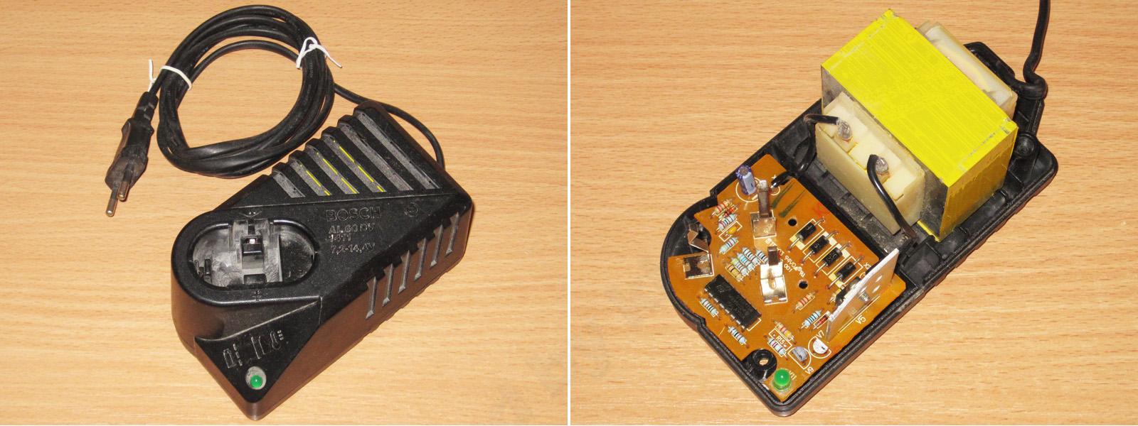 электрическая схема зарядного устройства шуруповерта bosch d-70745